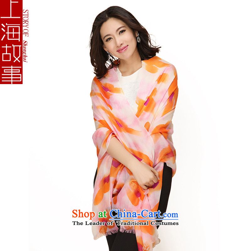 Shanghai Story hand painted pashmina shawl spring and autumn a MS4313Starlit