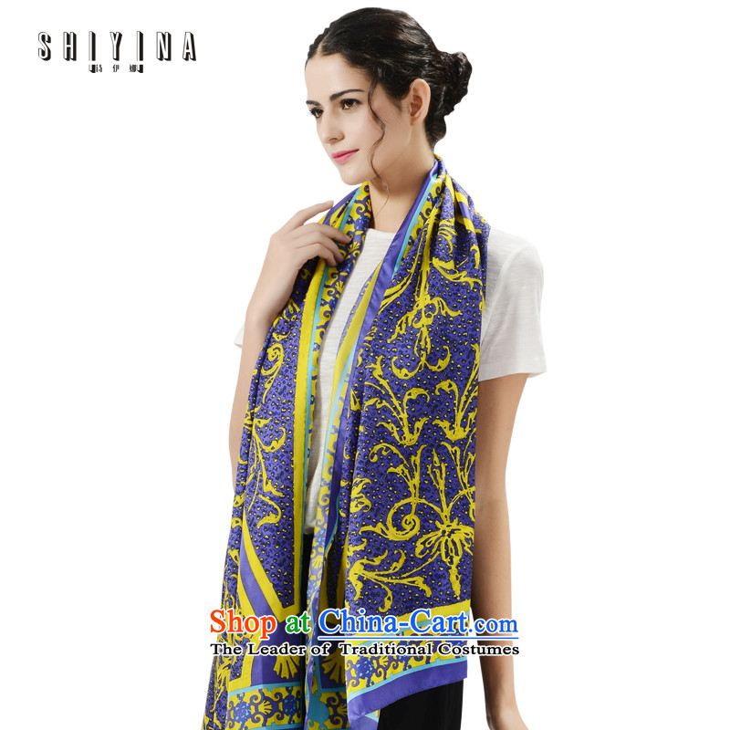 Poetry ina (shiyina) Ms. scarves autumn herbs extract silk shawls4313gift silk scarf long 2015 Violet