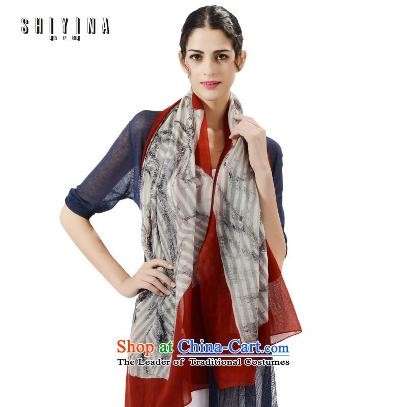 Ms Ina _shiyina_ warm winter female wooler scarf wild-wool streaks shawl dual-use red