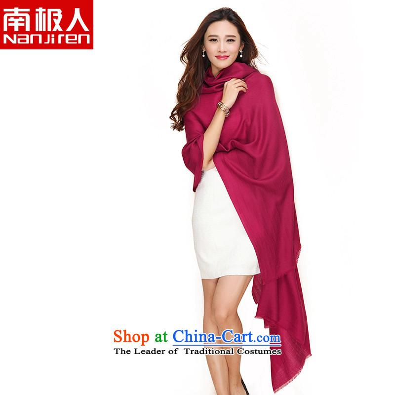 Antarctic people increase of 100 stylish Western Wind wooler scarf pixel color large large shawl female shawl Sleek and versatile 99.3 Wine red