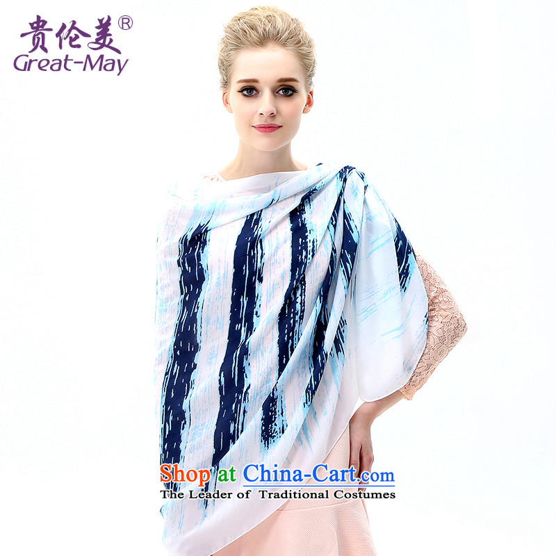 The US military during the summer sun silk scarf, long beach towel with gradient air-conditioning oversized shawl scarf new SJ0041C07A masks in the spring and autumn and fresh light blue