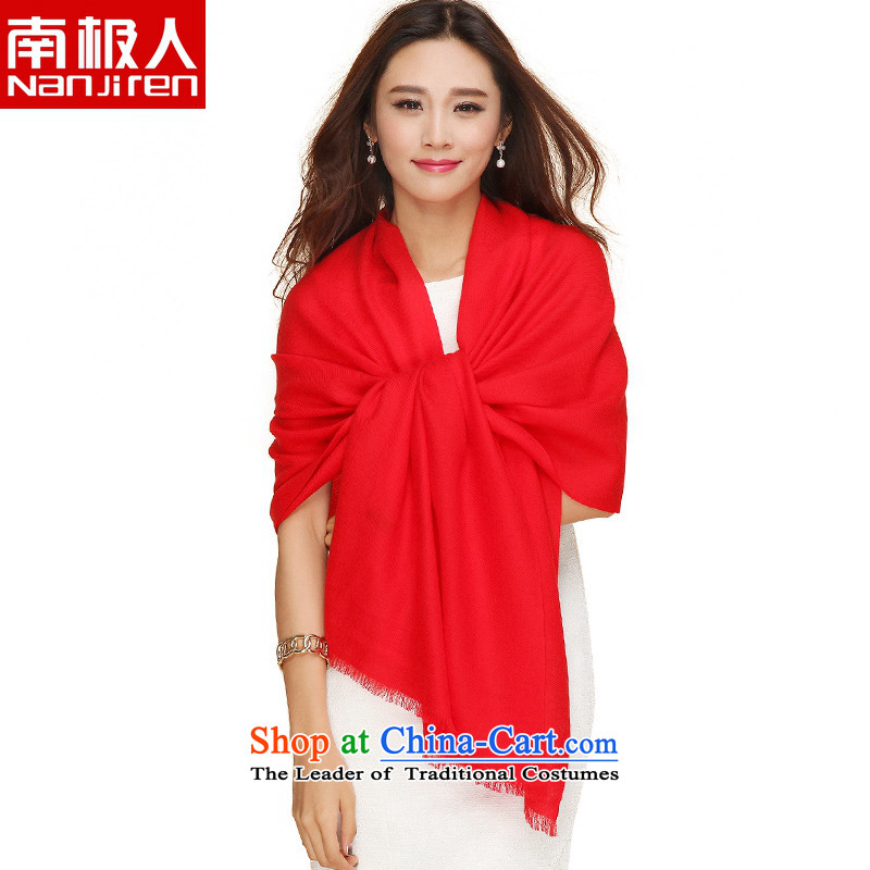 The Antarctic _winter_, of nanjiren color woolen scarves, warm-ups long towel shawl a red