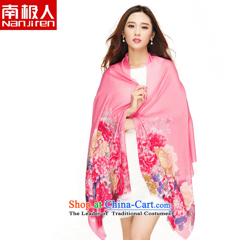 Antarctic people poster wooler scarf autumn and winter new stylish Korean female shawl Wind Flower smoked warm