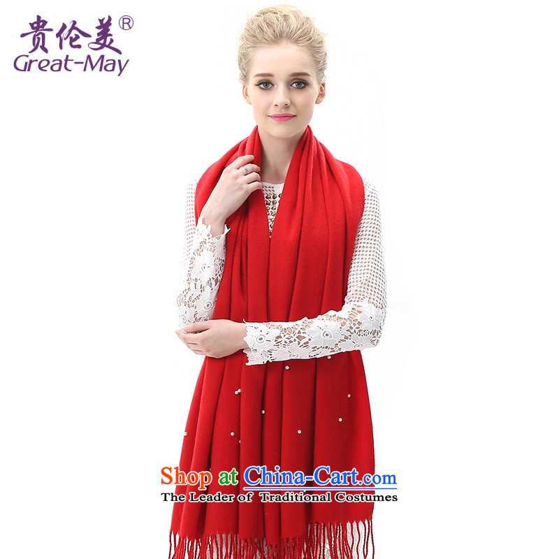 The United States and her Knitting scarves, Female Fall Winter Version Stamp knitted cardigans Korean president winter thick warm long warm red scarf WJ0111X03C05