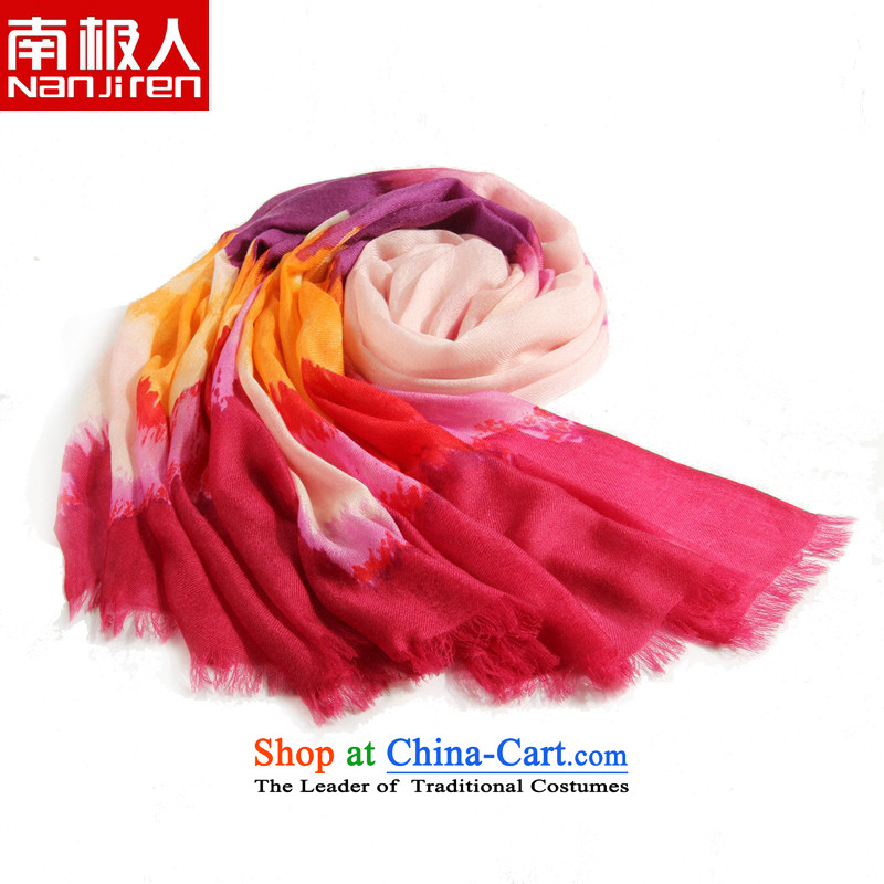 Antarctic Han version 300 hand-painted pashmina shawl winter_ of women also clouds Red Violet