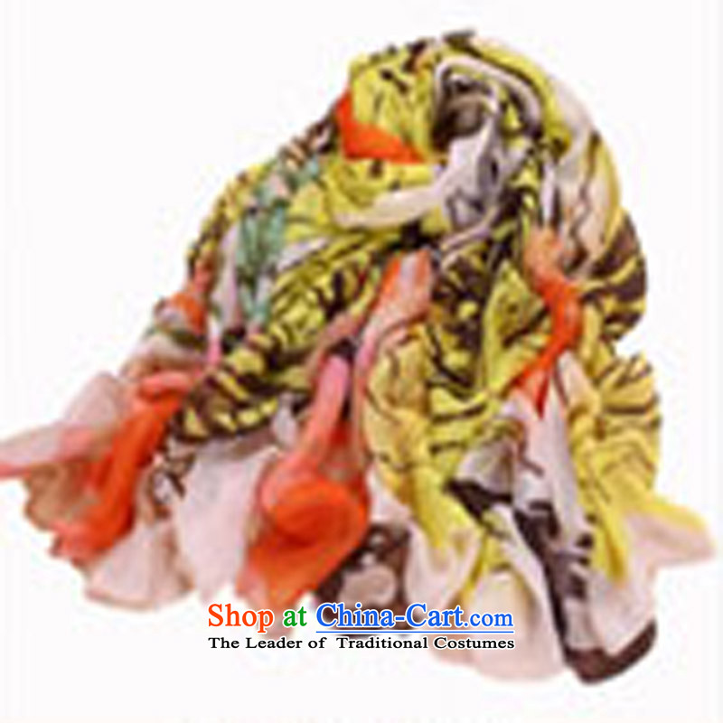Luo laanti hundreds of female spring and summer masks in the scarf silk scarf long chiffon sunscreen shawl large beach towel stunning rose - Orange