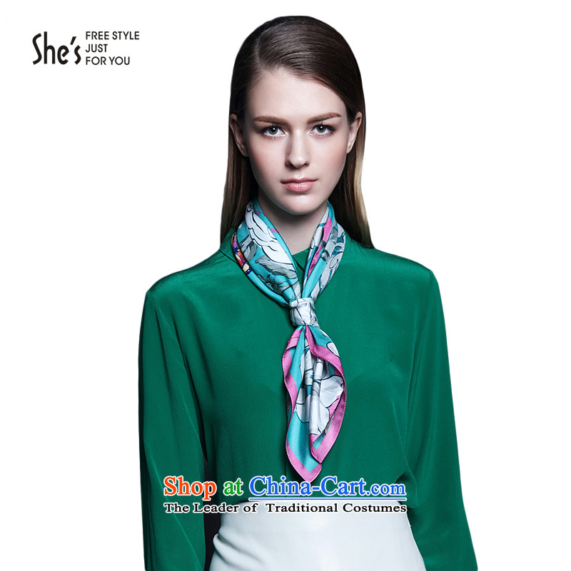 Mrs Ure sub scarf elegant she's flower Butterfly Dance silk scarves small towel herbs extract female SSS9619054 100 D0