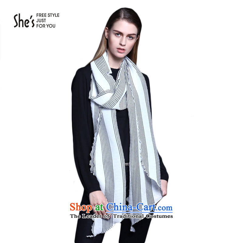 Mrs Ure child accessories she's stylish streaks polyester silk scarf long Fancy Scarf female SSL9511275 H1