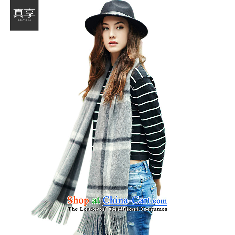 Really enjoy the autumn and winter women aware of the scarf warm Western wind flow su W014 Cashmere scarf Light Gray Plaid