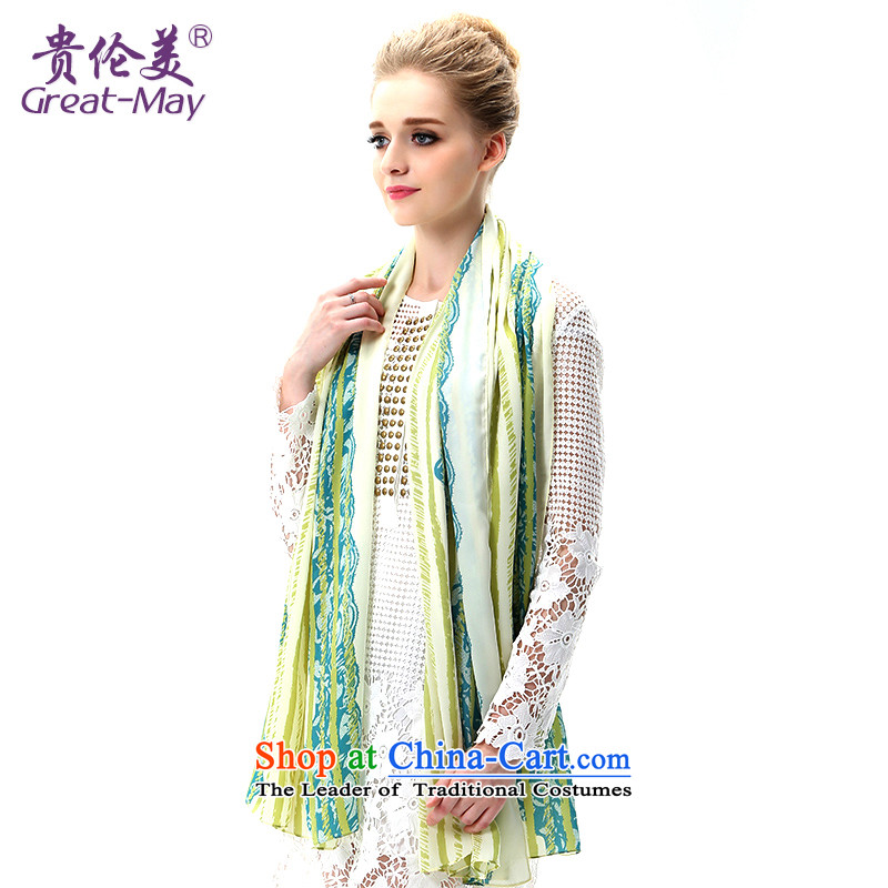 The US military during the summer of silk scarf sea border of the chador sunshade beach towel air-conditioning Fancy Scarf two long ultra-girl SJ0045C07A05 masks in olive green