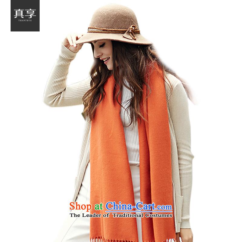 Really enjoy the autumn and winter women wild stylish warranty warm su woven scarf W026 orangered