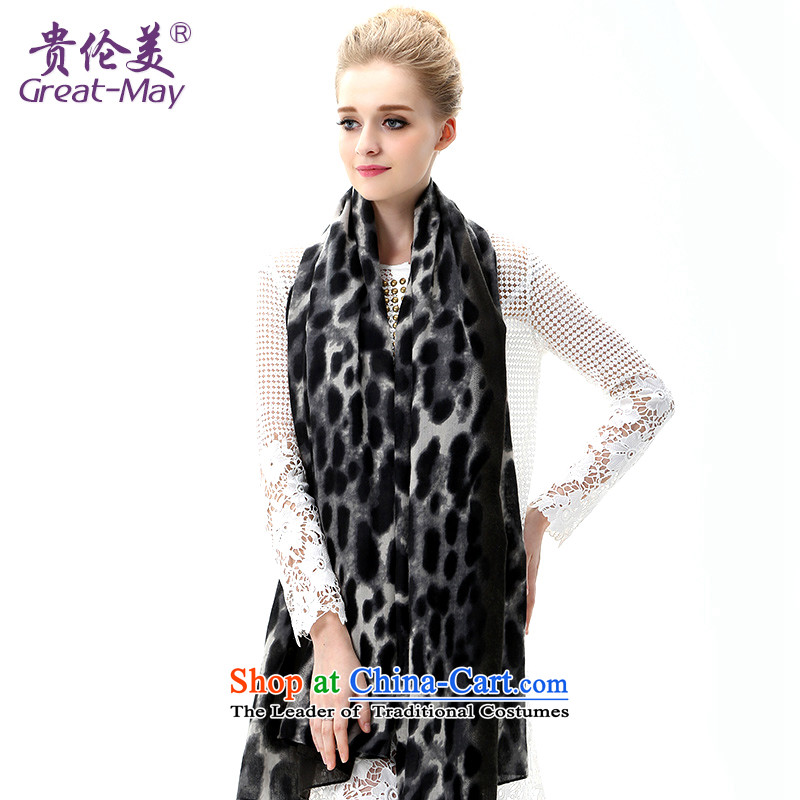 In spring and autumn scarves leopard greatmay, sunscreen shawl large beach towel seaside long Leopard Stamp silk scarf Winter Female SJ0048 black leopard