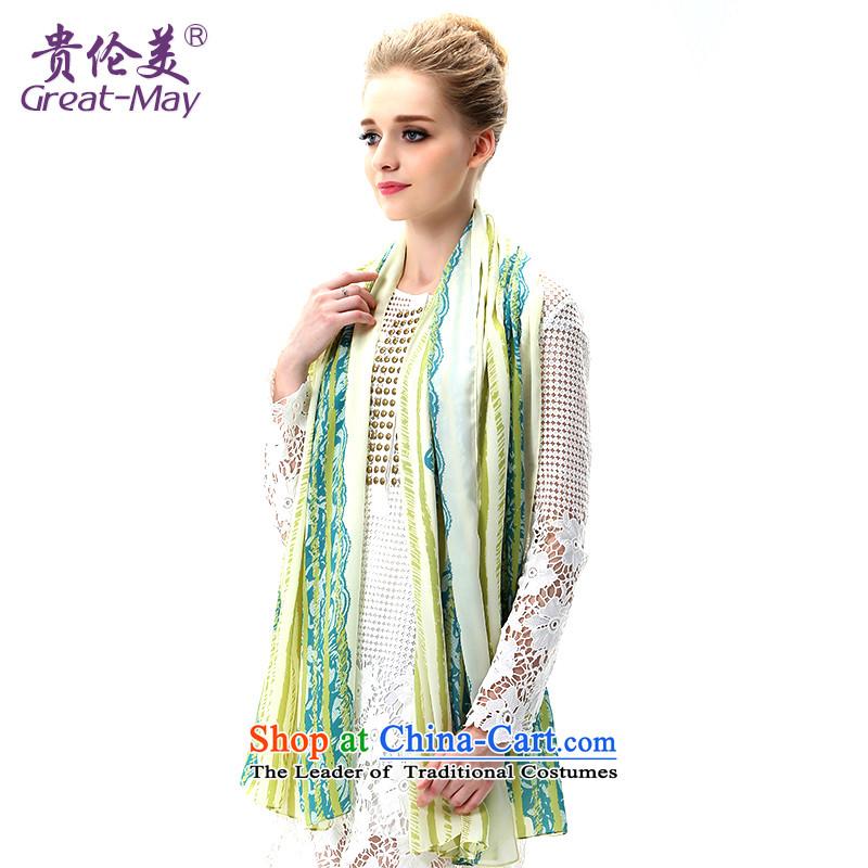 Summer sea border success greatmay silk scarf shawl sunshade beach towel air-conditioning Fancy Scarf two long ultra-girl SJ0045 masks in olive green