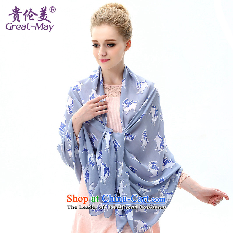The US military during the summer sun silk scarf, long beach towel with air conditioning to two large spring and autumn masks in shawls stamp scarf SJ0053C07A05 Dark Blue
