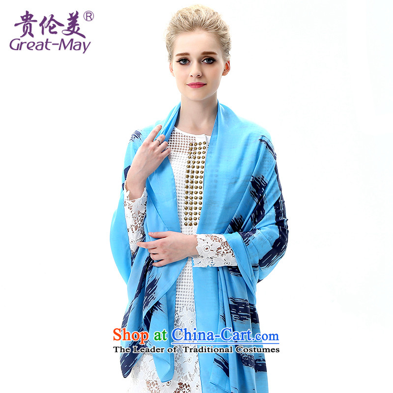 The US military during the summer sun silk scarf, long beach towel with gradient air-conditioning oversized shawl SJ0041C07A masks in the spring and autumn fresh Dark Blue