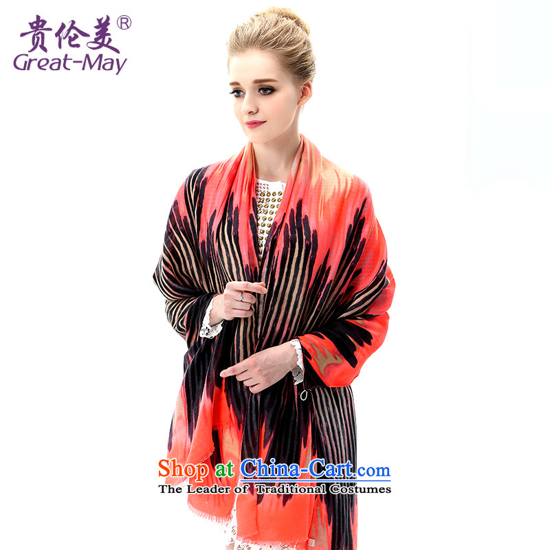 The US military during the summer sun silk scarf Ms. long pocket with air conditioning to two beach towel extra large scarf SJ0042C07A05 masks in spring and autumn shawl orange red suit