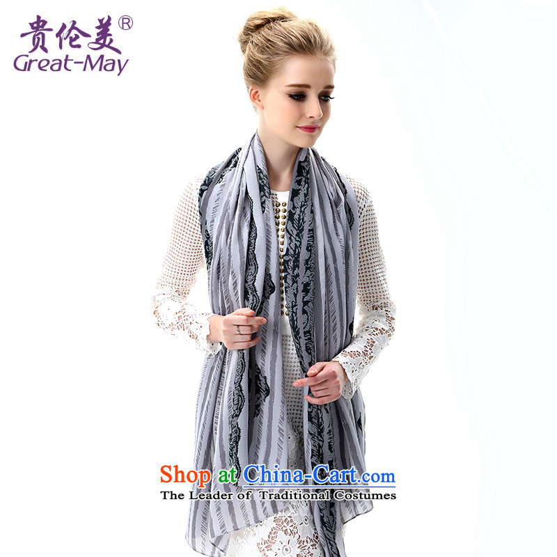 The US military during the summer of silk scarf sea border of the chador sunshade beach towel air-conditioning Fancy Scarf two long ultra-girl SJ0045C07A05 masks in Smoke Gray