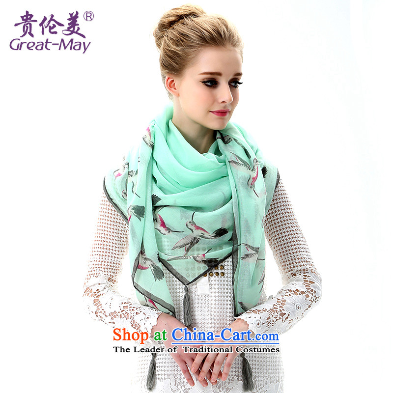 The US military summer beach towel oversized masks in pure color sunscreen silk scarf seaside girls chiffon long thin air-conditioning shawl autumn SJ0047C07A05 scarves fresh blue