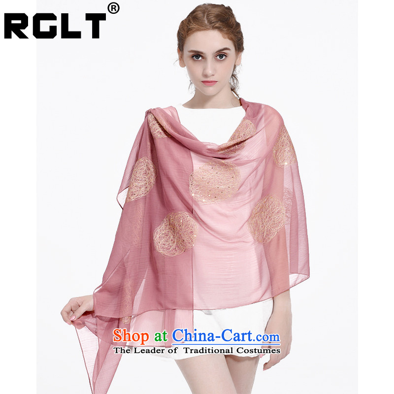Rglt Rui, 2015 new arts creases embroidery silk scarf 2 m large size elegant embroidery sunscreen long towel sj723 shawl Yiu- and document
