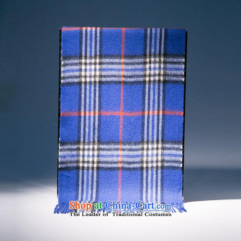 The wool blend yarn, Ms. Xu scarf autumn and winter warm thick stylish wild blue