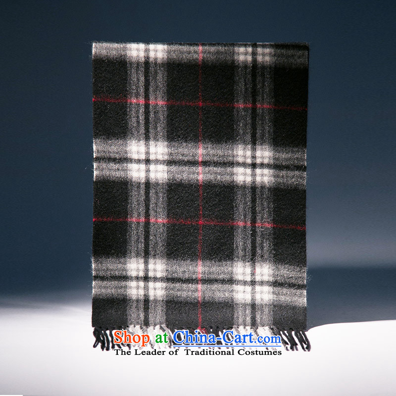 The wool blend yarn, Ms. Xu scarf autumn and winter warm thick black and white.