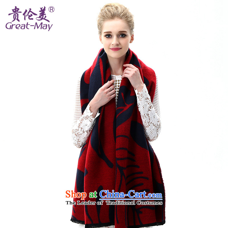 The United States and her Knitting scarves, Female Fall Winter Version Stamp knitted cardigans Korean president winter thick warm long WJ0113X03C05 large red scarf