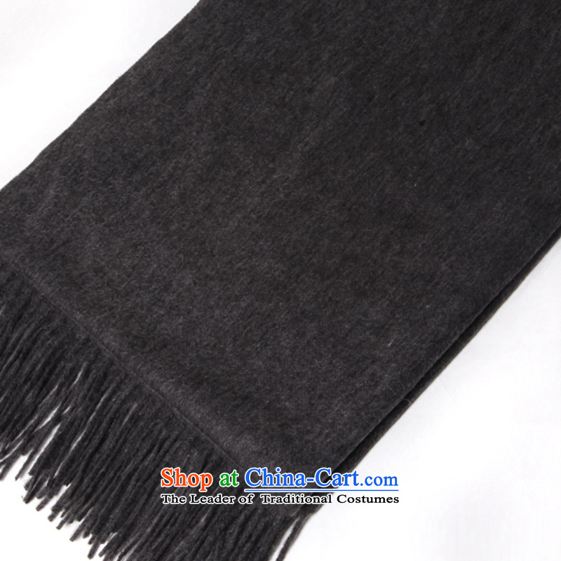 Pure Color Flow, TAOYEE) thick increase warm pashmina shawl charcoal gray