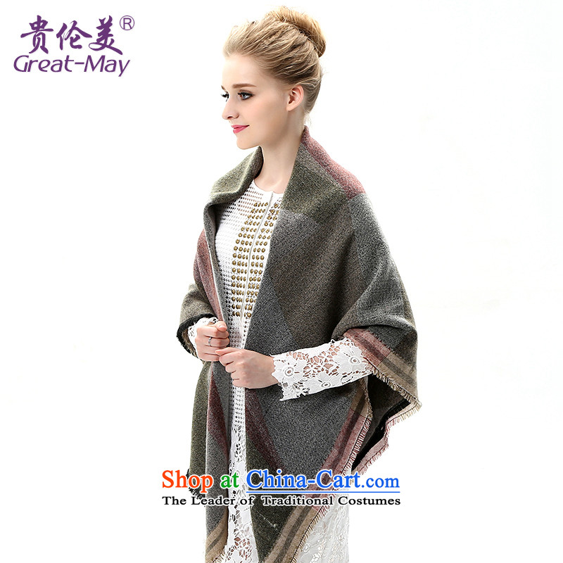 The end of the scarf girls Fall Winter greatmay Korean classy Warm lined wipes winter shawl Knitting scarves knitted Ms. WJ0112 female lady gray color spell checker