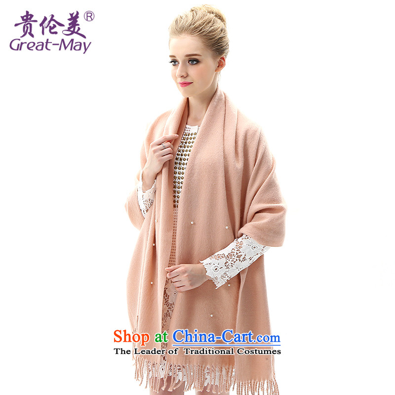 Knitting scarves female autumn greatmay winter version stamp knitted cardigans Korean president winter thick warm long scarf WJ0111 pink cherry blossoms