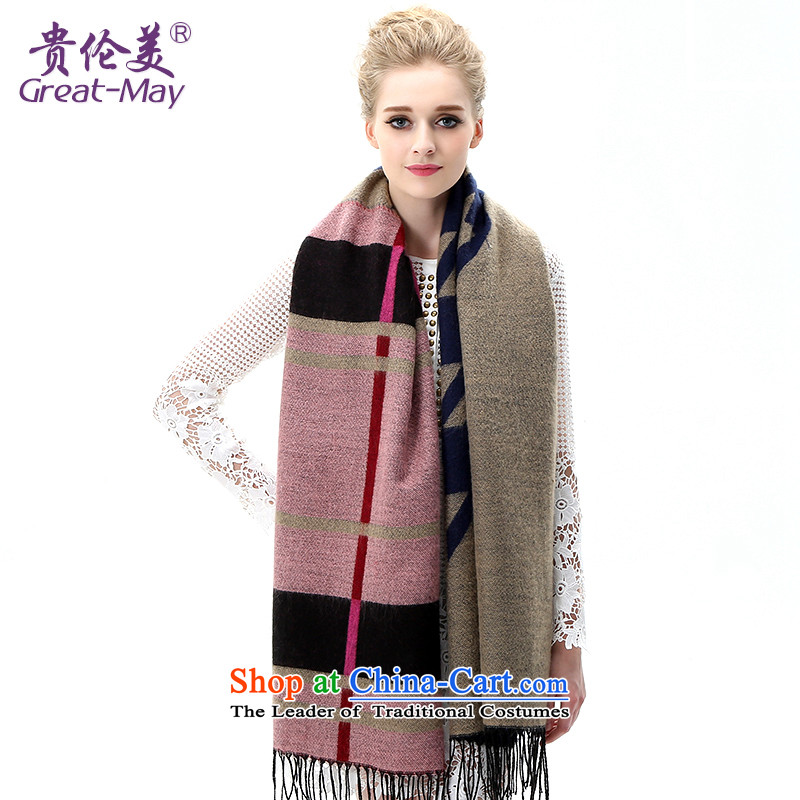 The end of the scarf girl Won greatmay winter Edition Super Large compartments knitting shawl, warm winter autumn shawl Knitting scarves WJ0110 blue color scheme of the Card