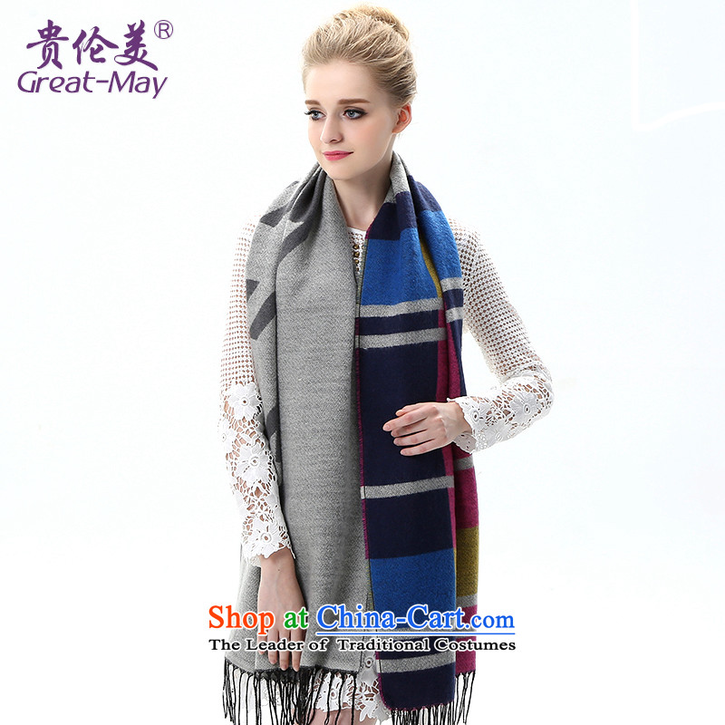 The US military winter female Korean super scarves large compartments knitting shawl, warm winter autumn shawl Knitting scarves WJ0110X03C05 gray color