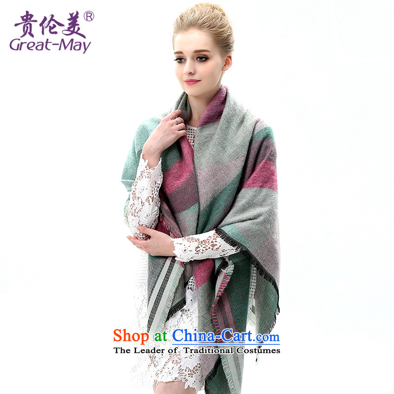 The American Girl autumn scarves, Korean winter Warm Lined and classy towel winter shawl Knitting scarves knitted Ms. WJ0112X03C05 female green spell color