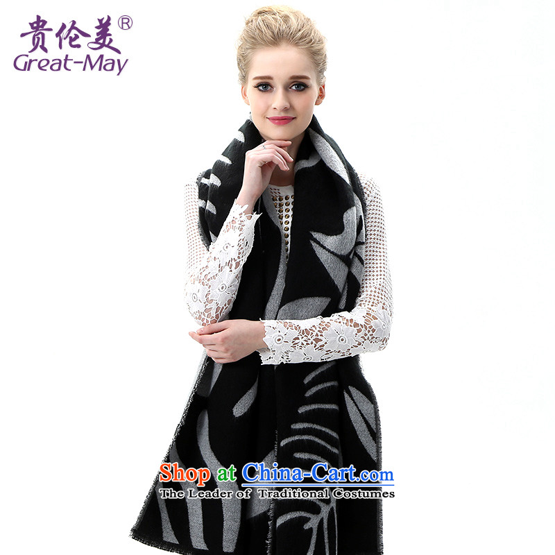 The United States and her Knitting scarves, Female Fall Winter Version Stamp knitted cardigans Korean president winter thick warm long Black Scarf WJ0113X03C05