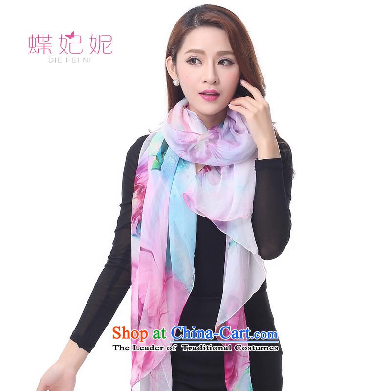 Butterfly Princess Anne DIEFEINI silk scarvesautumn 2015 new silk shawls chiffon big girl long silk scarf radiance 1 Dutch blue