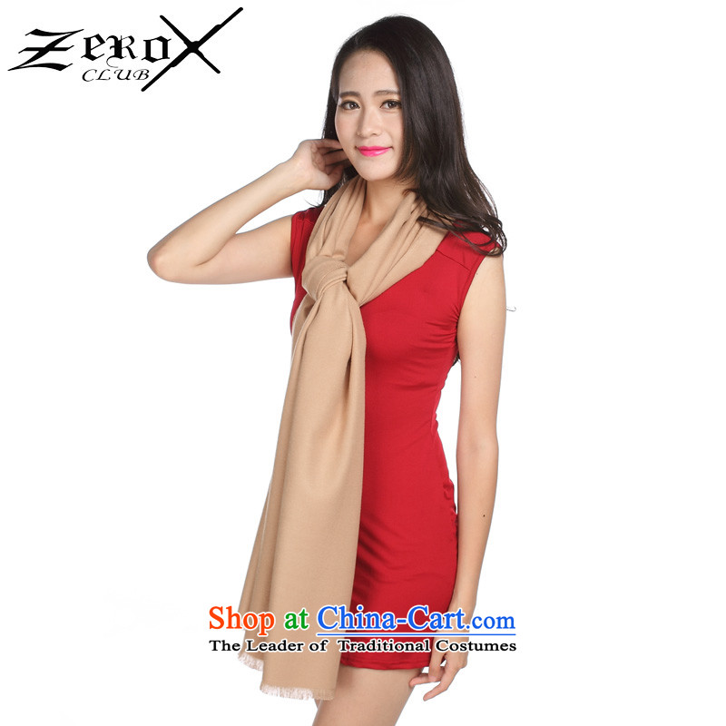 Ms. zeroxclub autumn and winter solid color two-sided brushed warm air-conditioning with two shawls scarves 13 colors to PJ-808 Khaki