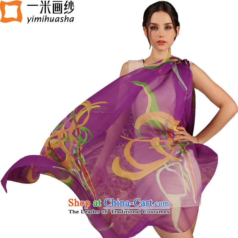 One meter animation yarn new president Europe 2015 wind silk scarves sunscreen beach towel herbs extract shawl Purple