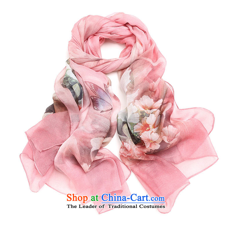 The Government of silk scarves Ms. herbs extract silk scarfs long silk shawls Hangzhou spring and autumn large light pink color 6_