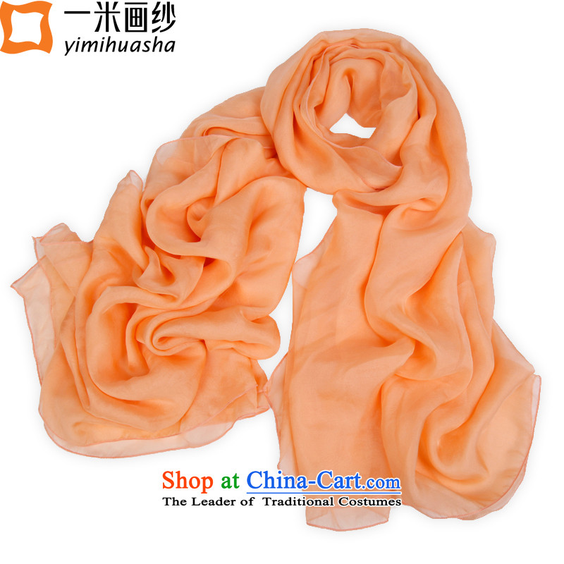 One meter of solid color paintings of 2015 herbs extract silk scarves sunscreen shawl female toner residues
