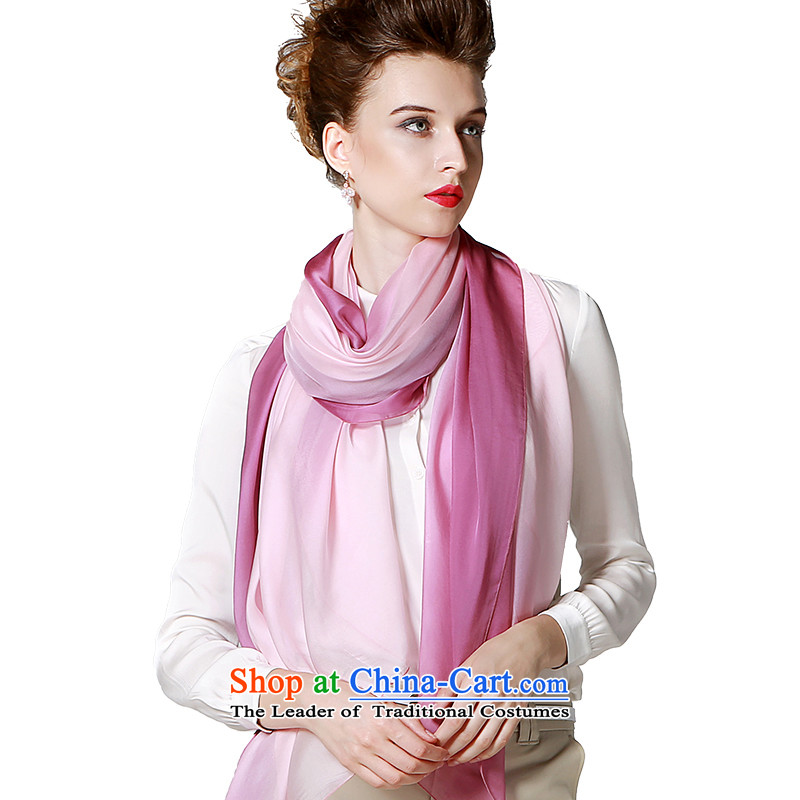 The population sector SIGI autumn and winter herbs extract new silk shawls and stylish colors silk upscale knocked scarf large gradient shawl dream Hiu rubber red