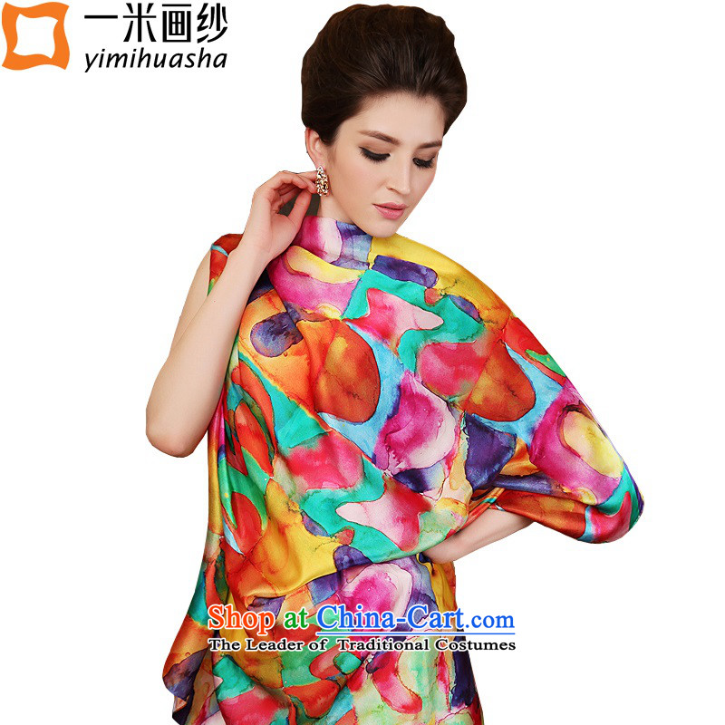 One meter animation yarn silk scarves 2015 new spring herbs extract scarves, 4# color