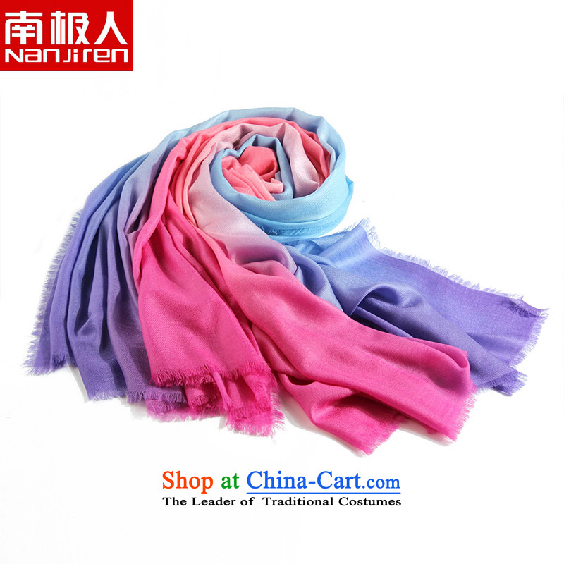 Antarctic people new scarf female 100% wool 200 multi-colored satin dyeing field tattoo wooler scarf large shawl7# color