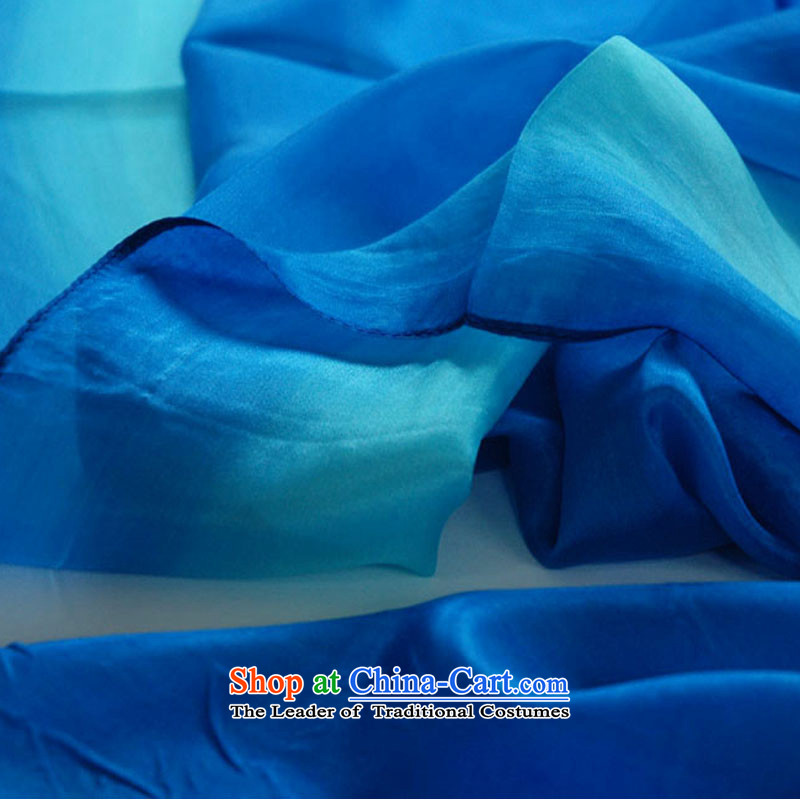 An Anthology CHEGEE sauna Jamsil silk scarves Ms. gradient printing and dyeing silk shawls Blue gradient