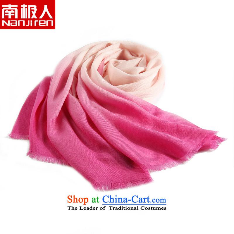 Antarctic people new vertical satin scarves gradient bevel encryption wooler scarf large shawl in Pink