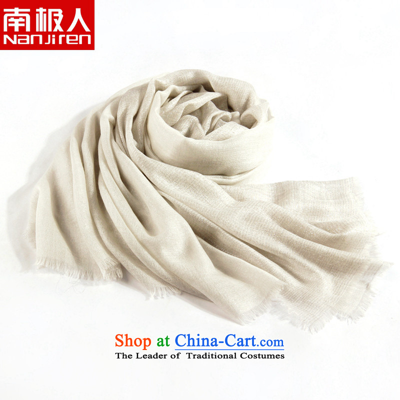 Ms. people scarves Antarctic autumn and winter new upscale 200 double gold wire pashmina shawl big gift box White