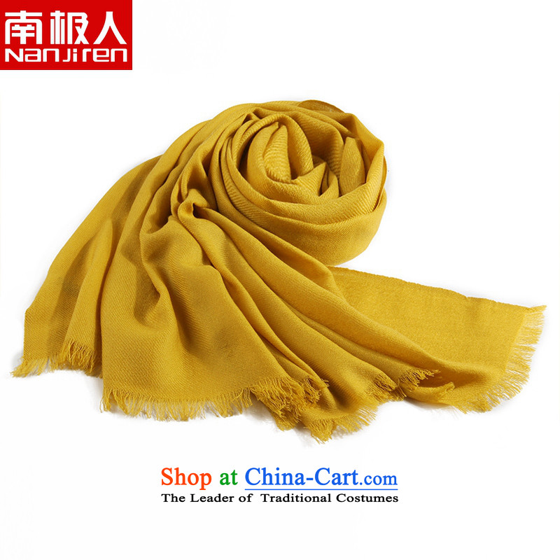 Antarctic people scarf female autumn and winter new warm colors of twill encryption wooler scarf large shawl gift box Turmeric