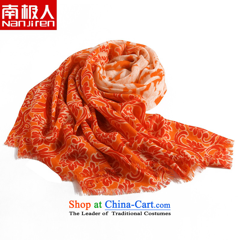 Antarctic people new scarves 80 twill stamp wooler scarf encryption large window guards shawl orange