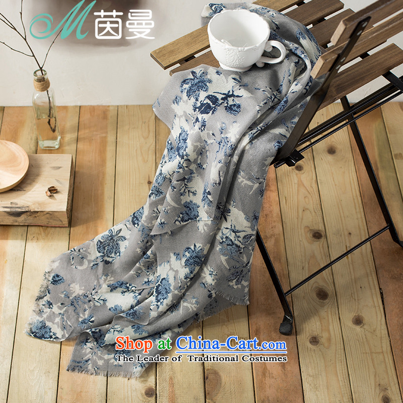 Athena Chu Cayman 2015 Autumn new woolen shawl scarves with two arts (853141153 scarf as soon as possible, Ms. Gray Gray