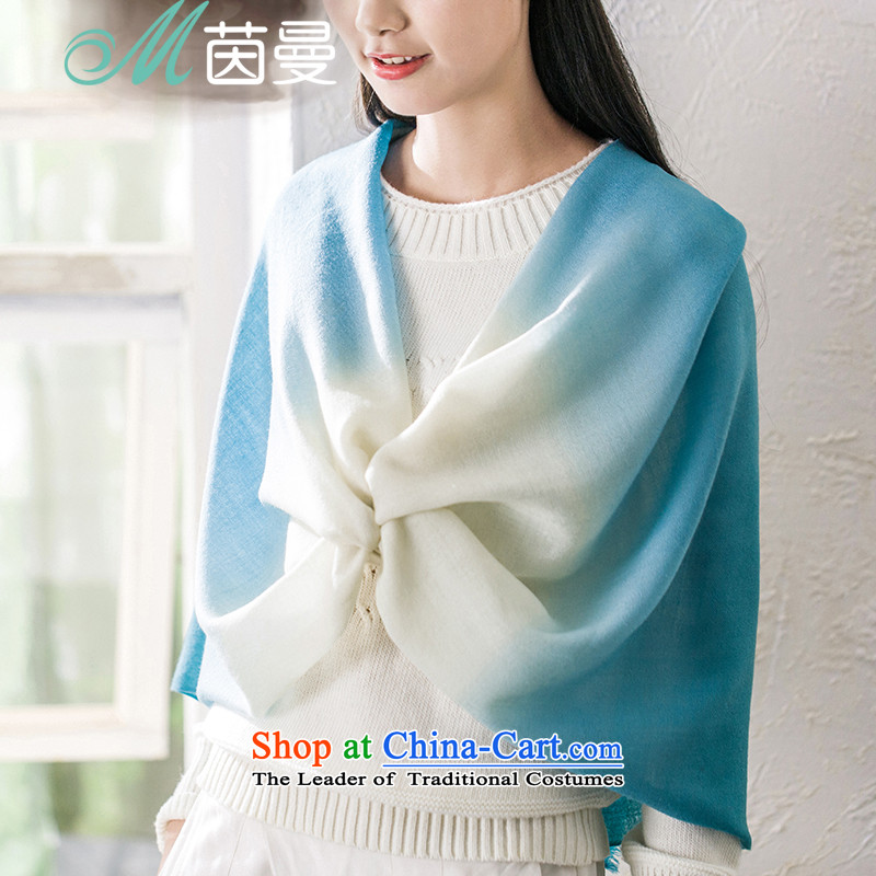 Athena Chu Cayman 2015 Autumn new arts gradient wild woolen shawl scarf girl (853140170] yellow yellow