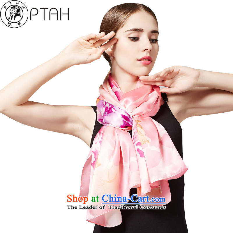 In the 2015 New Product silk scarves herbs extract spring and autumn Ms. scarves long masks in shawls long sunscreen snow spinning towel poster stamp4PT237 Pink