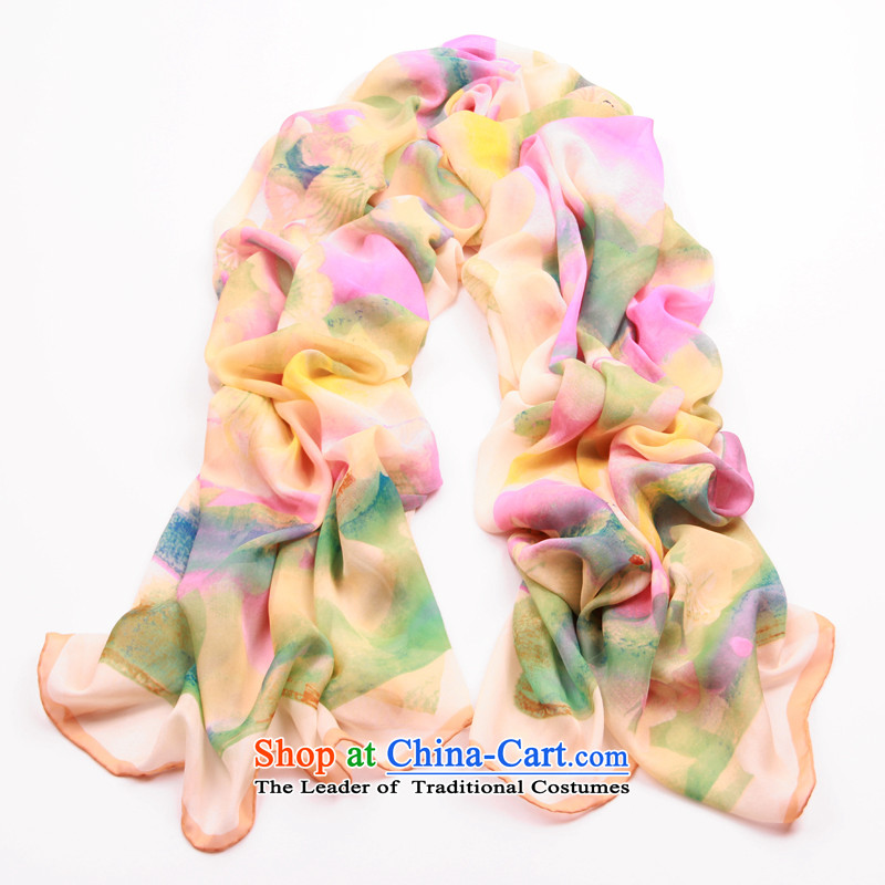Shanghai Story spring and fall silk scarfs Ms. Korean snow spinning towel long winter sauna silk scarves shawl like - Light Pink